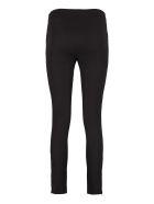 MICHAEL Michael Kors Stretch Cotton Leggings - black