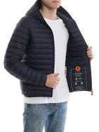 Save the Duck Hooded Jacket - Blue Black