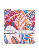 Emilio Pucci Emilio Pucci Kids Multicolored Blanket - Arancio/azzurro