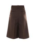 Laurence Bras Bermuda Shorts - Brown