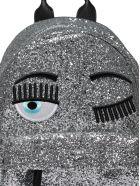 Chiara Ferragni Flirting Glitter Backpack - Silver