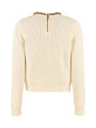 Elisabetta Franchi Celyn B. Embellished Sweater - panna