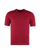 Drumohr Knitted Cotton T-shirt - blue