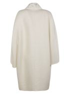 Ermanno Scervino Collar Embellished Coat - white