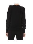 (nude) Cut Out Sweater - Black