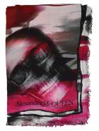 Alexander McQueen Ripped Rose Skull Shawl - Multicolor