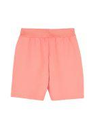 Emporio Armani Logo Detail Cotton Track-pants - Salmon pink