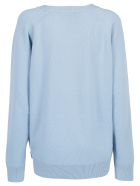 Givenchy V Neck Sweater - Sky blue