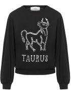 Alberta Ferretti Alberat Ferretti Love Me Starlight Sweater - Black