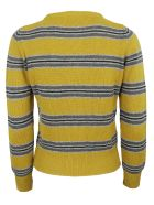 Happy Sheep Striped Cardigan - Yellow/grey
