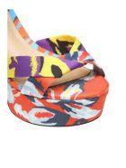 Schutz Sandals In Multicolor Fabric