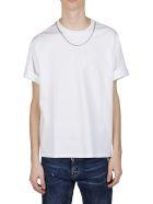 Neil Barrett Necklace Embellished T-shirt - White