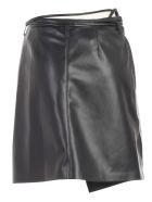 Nanushka Sekoya Skirt A Line Faux Leather - Black