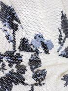 self-portrait Shirt L/s V Neck W/drape And Knot - Ivory Navy