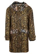 Burberry Leopard Skin-effect Coat - Honey