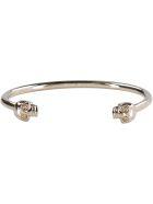 Alexander McQueen Twin Skull Brass Bracelet - Gold