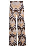 Circus Hotel Pattern Cropped Trousers - Brown