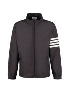 Thom Browne Techno Nylon Windbreaker-jacket - black