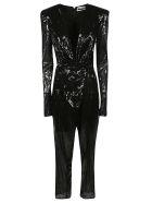 The Attico Drapery Jumpsuit - Black