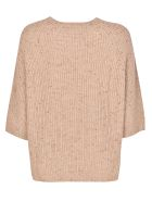 Peserico 3/4 Sleeves Sweater - Camel