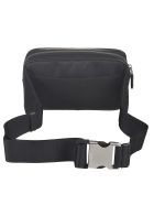 Prada Top Zip Buckled Shoulder Bag - Black/Yellow