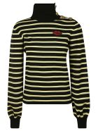 RED Valentino Stripe Pullover - Yellow
