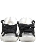 Golden Goose Silver ''super Star'' Sneakers For Girl - Silver