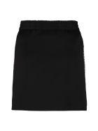 Miu Miu Logoed Side Bands Mini Skirt - Nero