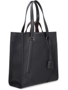Salvatore Ferragamo Leather Tote Bag - black