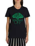 Off-White Off Tree Embroidered Tee - Nero
