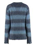 Golden Goose Antonicca Long Sleeve Crew-neck Sweater - blue