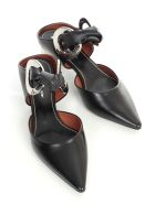 Proenza Schouler Closed Sandals W/40 Heel And Knot - Nero Silver