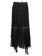 Sacai Skirt Long Lace - BLACK