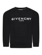Givenchy Black Sweatshirt For Kids With Logo - Nero