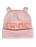 GCDS Logo Beanie - Pink