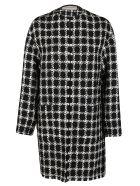 Valentino Black And White Virgin Wool Blend Coat - BLACK WHITE