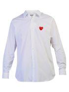 Comme des Garçons Play Cotton Poplin Shirt - White