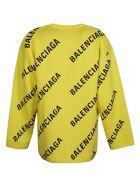 Balenciaga Oversized Logo Sweatshirt - Giallo