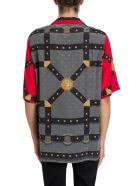Versace Bondage Print Silk Bowling Shirt - Rosso