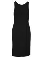 Givenchy Graphic Neck Line Dress - BLACK