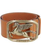 Etro Calf Leather Belt With Buckle - Saddle Brown
