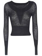 Jacquemus Rib Knit Jumper - Black