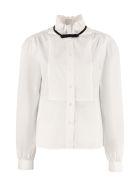 Miu Miu Cotton Poplin Shirt - White
