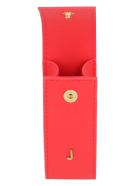 Jacquemus Leather Lipstick Holder - red