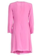 Emporio Armani Oversized Fitted Silhouetted Dress - Viola