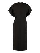 RED Valentino Crepe Sheath Dress - black