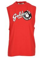 Golden Goose Marfa T-shirt With Golden Print - RED