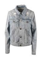 Givenchy Givenchy Vintage Print Denim Jacket - Blue
