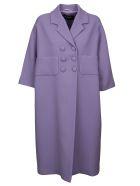Rochas Elegant Simple Coat - Open purple