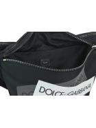 Dolce & Gabbana Logo Tape Belt Bag - Black